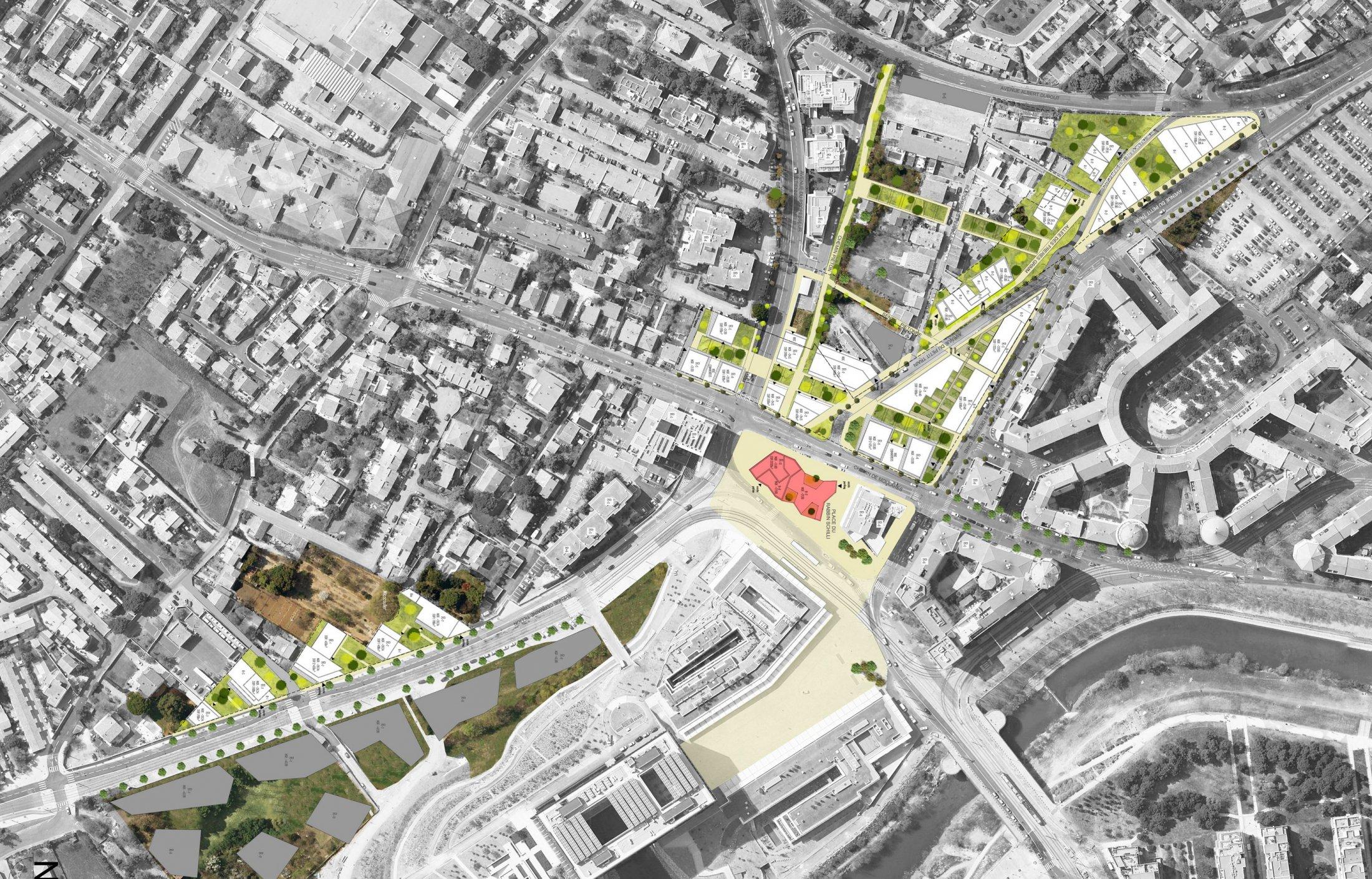 Montpellier map m tropole architecture paysage - Carrefour market port marianne montpellier ...