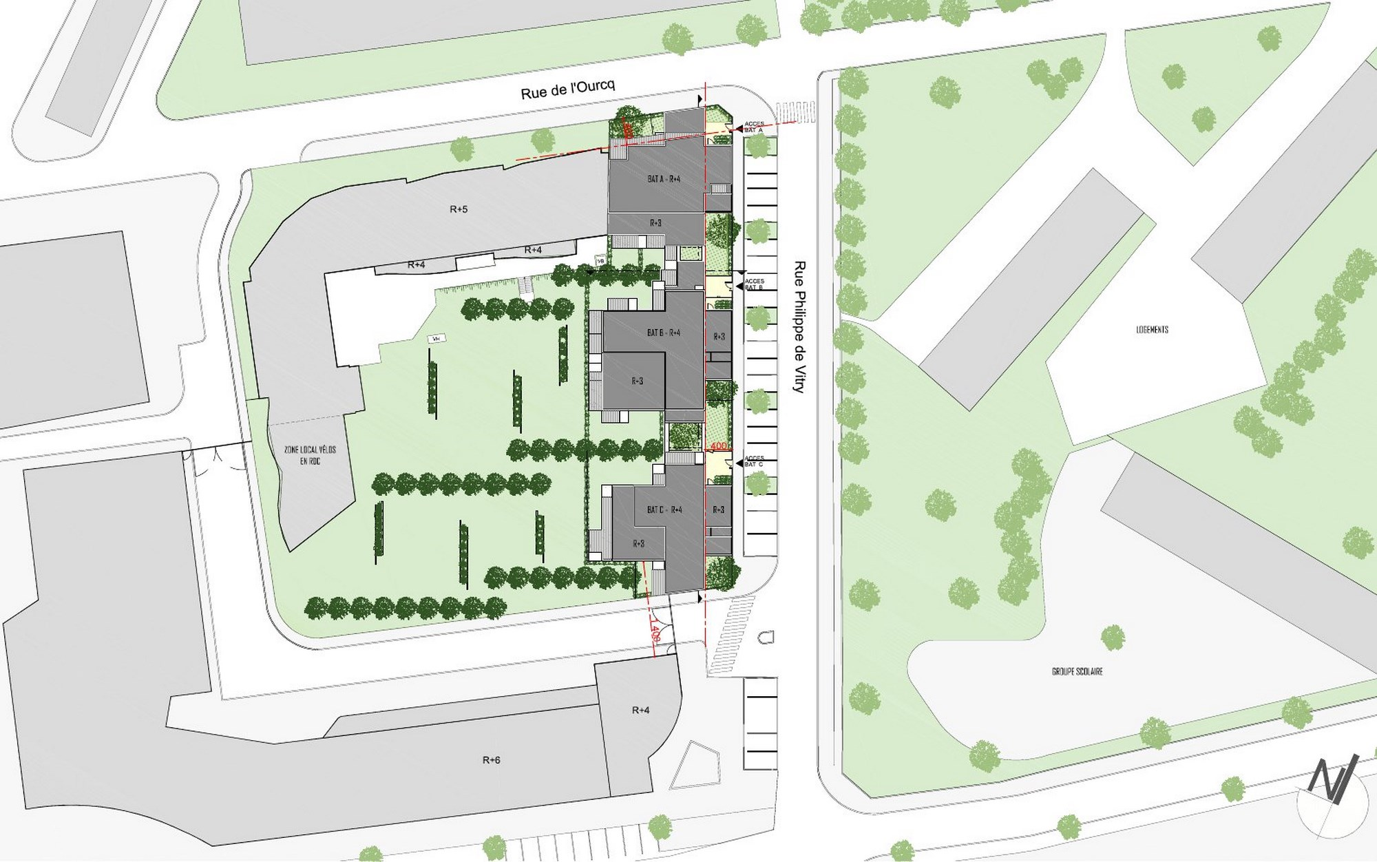 Plan masse copier map m tropole architecture paysage for Plan masse architecture