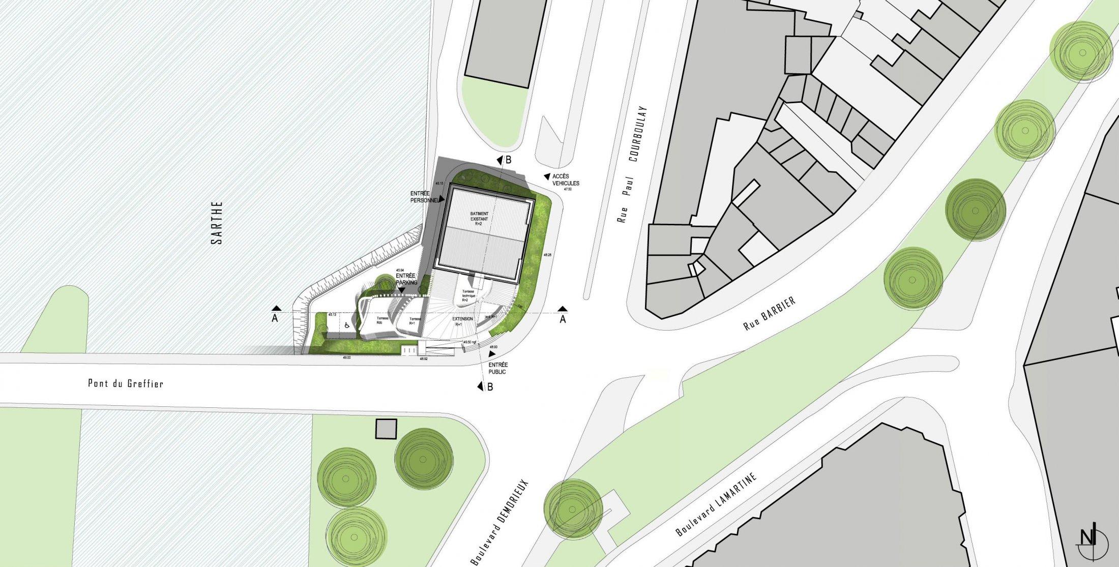 le mans - map - métropole architecture paysage